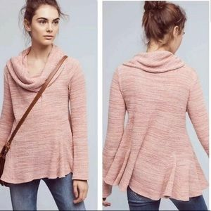 Anthropologie Postmark Maurisa Cowl Waffle Sweater